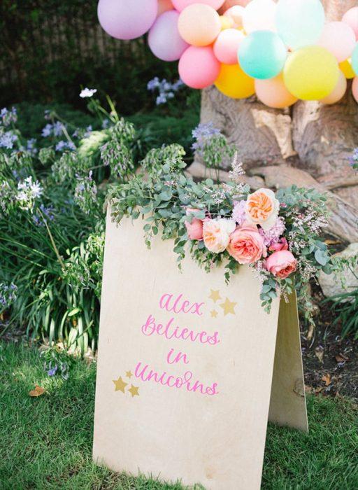 шарики цветы праздник единорог