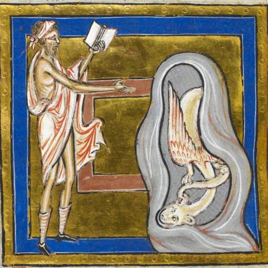 монах читает молитву средневековье