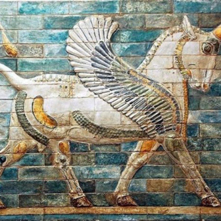 единорог изображение на стене рельеф