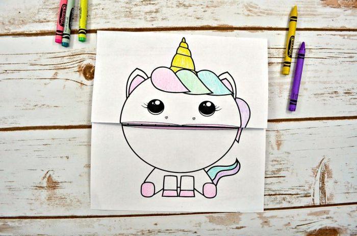 рисунок единорога простой карандаши