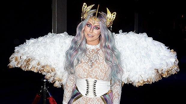 знаменитости костюм единорога белые крылья и рог
