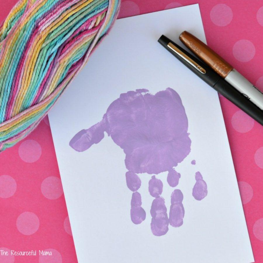 отпечаток руки рисунок подделка мастер-класс