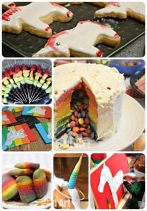 единорог Разноцветных Торт