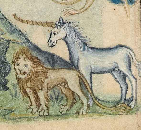 единорог-лев-мифические-животные