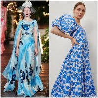 Платье с цветочным принтом 2021-2022. Модный тренд на фото